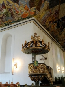 Oslo : cathedrale, chaire