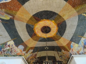 Oslo : cathedrale, plafond